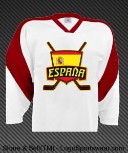 Spain Flag Ice Hockey Jersey Design Zoom